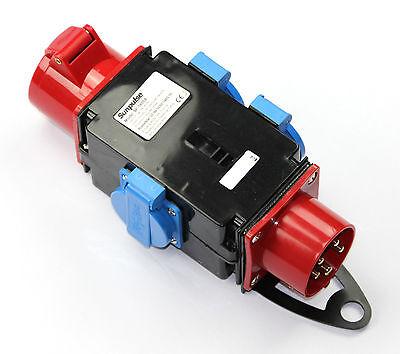 Adapter Stromverteiler 16A 3x 230V 1 x 400 V  Baustromverteiler Verteiler