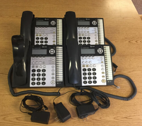 Batch of 4 AT&T 1070 4-Line Phones, Used