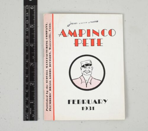 1931 Scovill Manufacturing Ampinco Pete Plumbing Fixtures Catalog Booklet