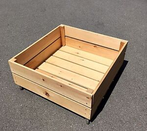Great Wooden Storage Box with Wheels ! $30
