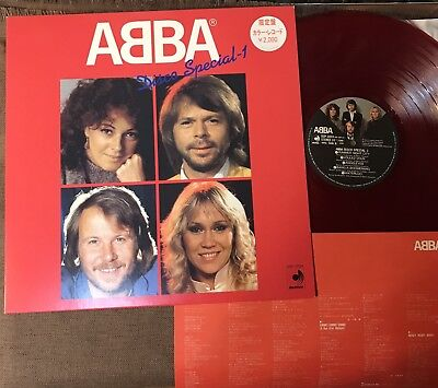 ABBA Disco Special-1 JAPAN-ONLY RED COLOR LP DSP-3024 w/PROMO STICKER+INSERT