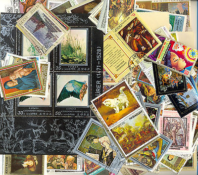 Art/Paintings collection of 2000 all different stamps
