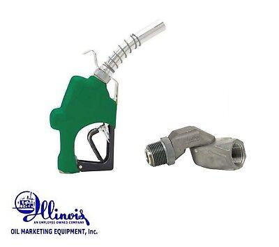 Husky 045710n-03 1 Diesel Highflow Nozzle 1gs Green W1 Fuel Swivel 0087