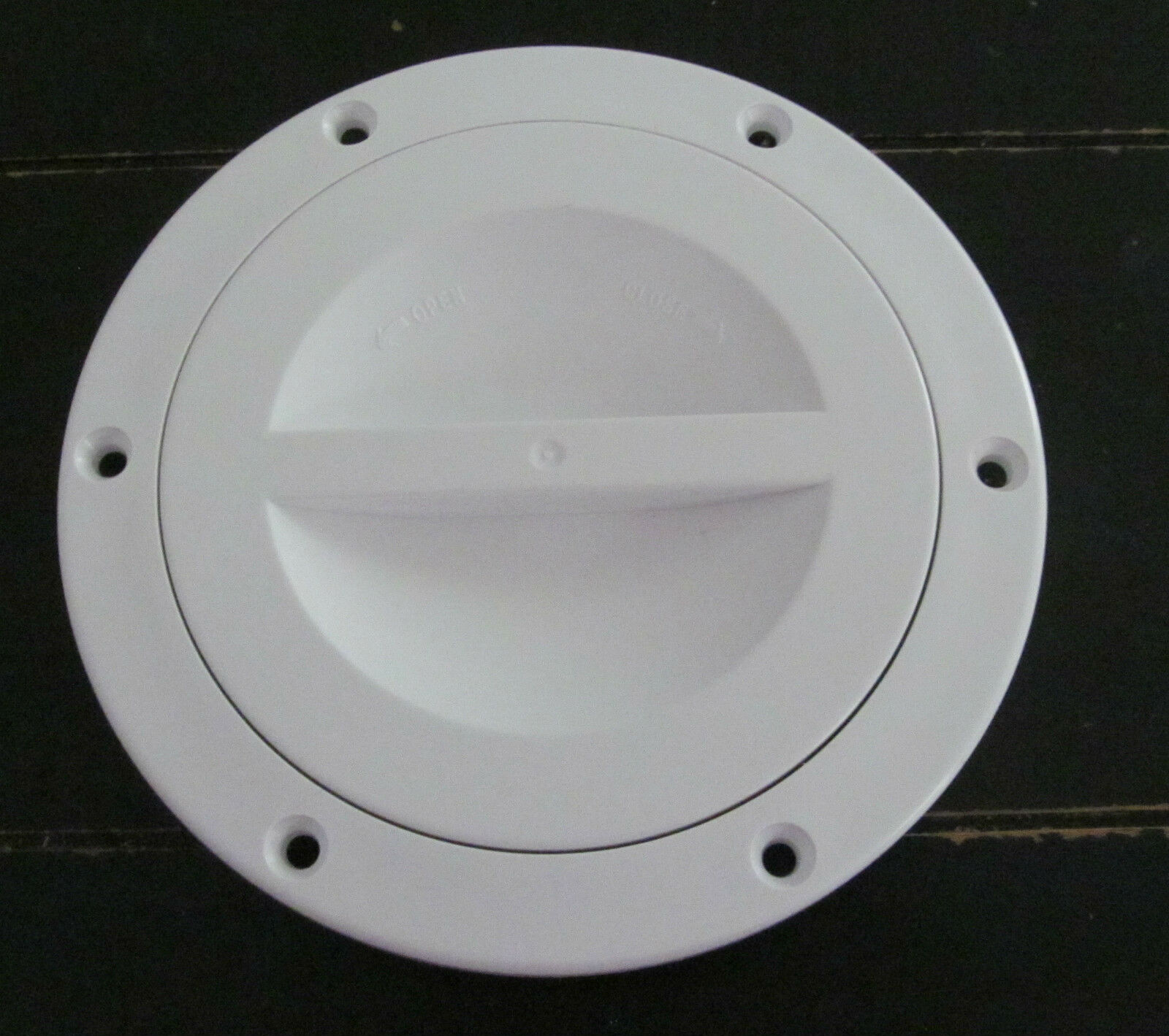 "WHITE 4"" Access Hatch Cover Twist Out Deck Plate Marine Boat Valterra SALE"