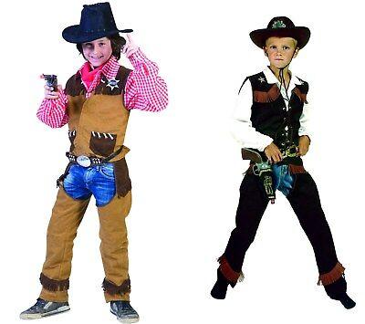 Cowboy Kinder Jungen Kostüm Weste mit Chaps Wilder Westen Karneval Fasching NEU