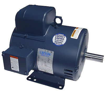 Leeson Electric Motor 5 Hp 131616.00 C184k34db3b 3450 Rpm 1-ph 230 Vac Single Ph