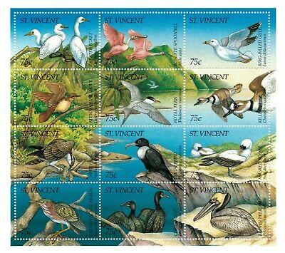 St. Vincent 1995 SC# 2157 Birds, Flora & Fauna, Egret - Sheet of 12 Stamps MNH