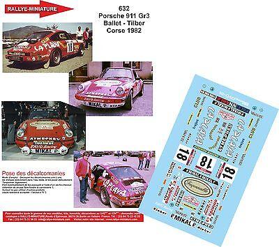 DECALS 1//43 REF 1014 FIAT PUNTO S1600 BALDACCI RALLYE TOUR DE CORSE 2005 RALLY