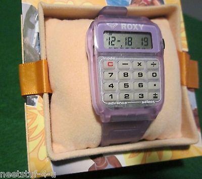 VTG NOS Roxy Quiksilver Surfer Calculator Alarm Watch~Retro 80's~Dated 1983