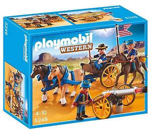 * PLAYMOBIL * 5249 * Horse-drawn Carriage with Cavalry Rider * Western * BNIB *