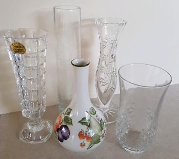 Crystal & Porcelain Vases