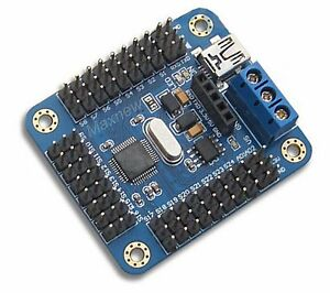 16 Channels Servo Steering gear USB Controller driver board for Robot MCU