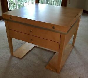 Crafts/display table with drawers