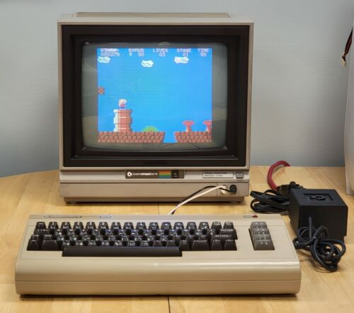 Commodore 64 Computer Restored, Recapped, Fully Tested, Cleaned w/ original PSU
