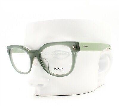 Prada VPR 21S-F UEI-1O1 Eyeglasses Frames Glasses Opal Green 53-19-140 Asian (Prada Glasses Frames Women)