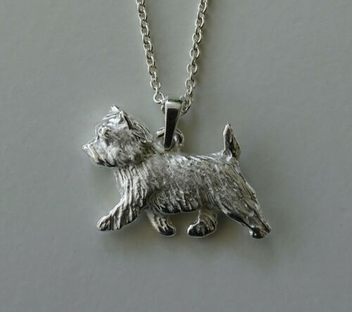 Small Sterling Silver Cairn Terrier Pendant