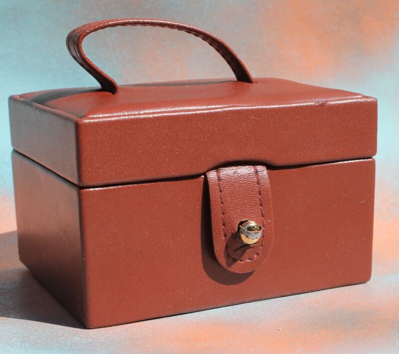 Faux Leather Jewelry Box, Travel Tote