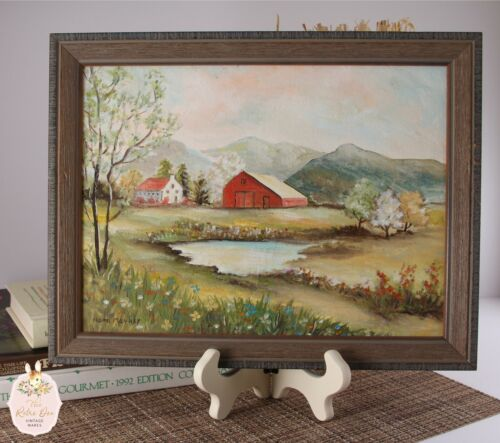 Vintage Rustic Farm House Garden Wall Display Original Artwork by NC Nora Mauney