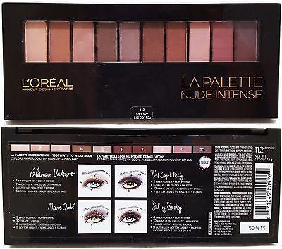 Loreal Paris La Palette Nude Intense Eye Shadow Palette 112 Make Up Designer