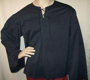 New Handmade Renaissance Men 039 S Peasant Shirt Size