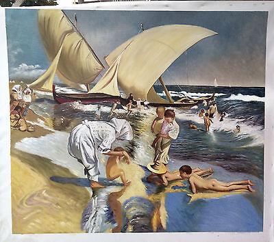 Ölbilder Ölgemälde Gemälde Sorolla 65x80cm