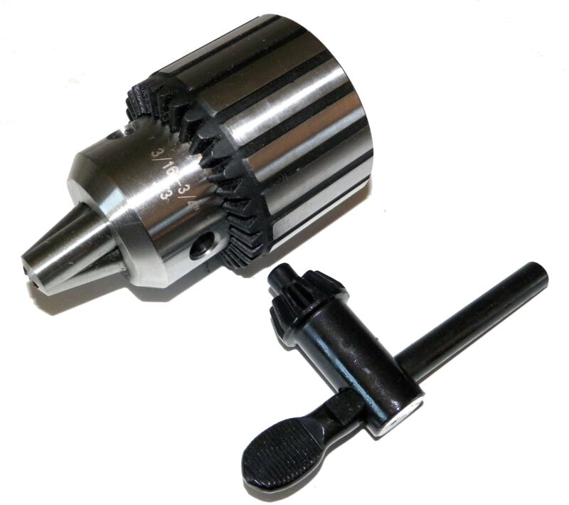 "3/16""-3/4"" Super Heavy Duty Drill Chuck with Key JT3 Taper in  Prime Quality"