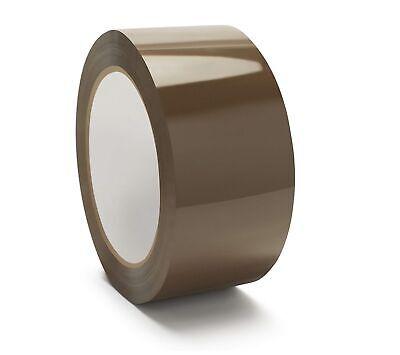 6 Rolls Premium Brown Carton Box Sealing Packing Tape 1.75 Mil 2 X 55 Yards