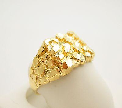 Men's 10K Yellow Gold Nugget Ring 3.2 g