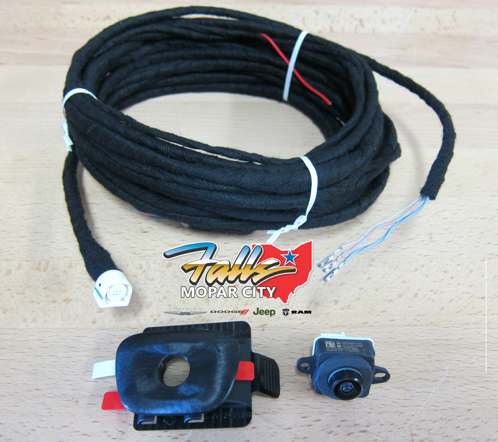 2014 2017 Jeep Cherokee Rear View Reverse Back Up Camera Kit Mopar 1995 Speaker Wiring Oem