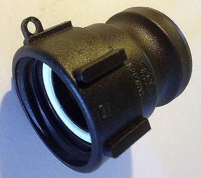 "275 + 330 Gn IBC Tote Tank HD 2"" Coarse Thread x 2"" cam lock drain adapter QDC for sale  Loudon"