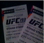 2 x Ufc 193 ticketsCAGESIDE floor seats section A8 Elermore Vale Newcastle Area Preview
