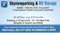 CAR PARKING & RV STORAGE CLOSE TO CALGARY AIRPORT