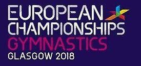 Glasgow 2018 European Men's Artistic Gymnastics (Team Final) 2 x Adult & 2 x Under 16 tickets