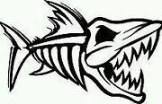Fish Skeleton Decal