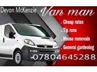 man with a van,tip runs,removal,courier,ikea pick up,ebay,facebook,gumtree collections