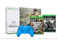 Xbox One S 500GB + FIFA 17 + Gears of War 4 + GTA V + Extra 2nd Controller ALL BRAND NEW WARRANTY
