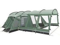Outwell Montana 6, 6 berth tent plus front extension, fitted Outwell carpet and free footprint.