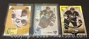 Lot of 3 Player Cards Sidney Crosby Team Canada Rimoski Penguins.