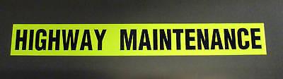 Highway Maintenance Sign Fluorescent Magnetic Signage Large