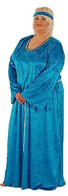 mittelalter-sca-historische-larp-rollenspiel Reich blau und Größen Kostüm Outfit