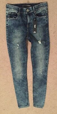 New Express Jeans Legging High Rise Size 2R Dark Blue Stylish -