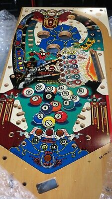 1981 BALLY EIGHTBALL DELUXE PINBALL PLAYFIELD NEW OLD STOCK  Shipping Available