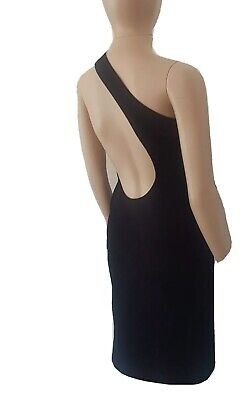 Vintage Gucci Tom Ford Runway S/S 00 Body Con Knit One Shoulder Midi Dress Sz S