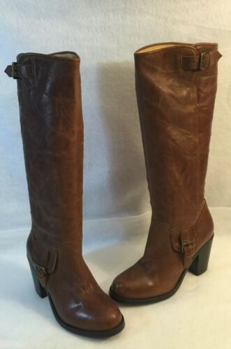 Ariat Knee High Riding Horse Western Boot Heels Brown Leathe