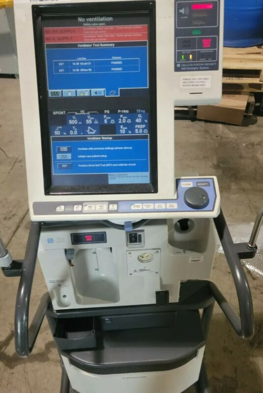 Nellcor Puritan Bennett 840 ventilator w/compresorBiomed certified patient ready