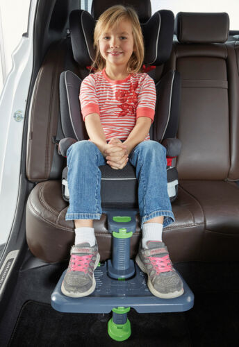 [KneeGuardKids3] Car Seat Footrest, Booster Seat Footrest Gray (Latest Version)