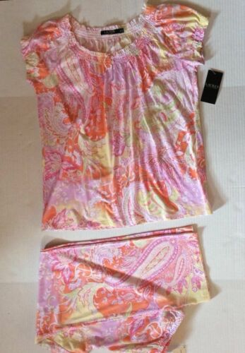 Lauren Ralph Lauren 2pc Paisley Pajama Set Size Medium Women's $72