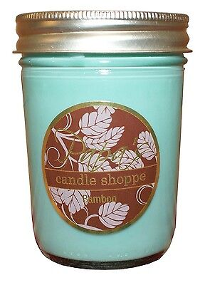 Bamboo Scented Soy Candles, Soy Candle, 8 oz Jelly Jar, Burn Time 45 - 50 (Bamboo Soy Candle)