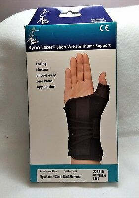 THUMB ARTHRITIS Support Ryno Racer Short Wrist & Thumb Support Universal Left