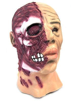 Geblasen über Gesichtsmaske Gustavo Fring Zombie Kostüm Horror Halloween - Blutiges Gesicht Kostüm